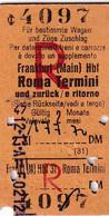 Biglietto Ferroviario Di Treni Tedesco - Anno 1966 - Europa