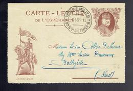 CL De L'Espérance Illustrée Jeanne D'Arc Télégie Militaire 8e Son D'Etapes 6 SEPT 16 => Bollezeele ( Nord ) - Guerra Del 1914-18