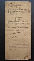1632 Givors Rhône Joli Document De 8 Pages, Vente Mathieu Guy André Cristoffe, Pour Passionné De Paléographie - Manuscritos