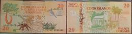 Cook Islands 20 Dollars 1992 P 9 Boat Crab Bird UNC - Cook Islands