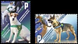Belarus 2021 Set 2 V   MNH Service Dogs Of Belarus Customs Dog Chiens Chien Hund - Perros