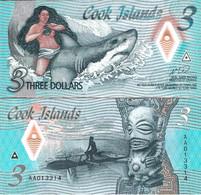 Cook Islands 2021 - 3 Dollars - Pick NEW UNC Polymer - Cook Islands