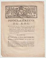1790, Proclamation  Du Roi Portant Que Les Bannières Données Par La Commune De Paris Aux 83 Départements... - Décrets & Lois