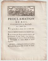 1790, Proclamation  Du Roi Concernant La Maréechaussée - Décrets & Lois