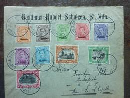 1920  Lettre 10 Timbres  MALMEDY   Cachet LIGNEVILLE   PERFECT - Storia Postale