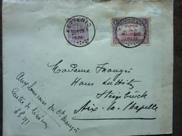 1920  Lettre 2 Timbres  EUPEN MALMEDY   Cachet KETTENIS   PERFECT - Storia Postale