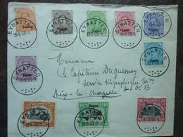 1920  Lettre10 Timbres  EUPEN   Cachet EYNATTEN   PERFECT - Storia Postale