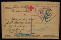 TREASURE HUNT [00842] Germany 1918 Red Cross POW Post Card Sent From Hamburg To Italy - Lettres & Documents