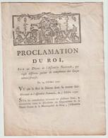 1790, Proclamation Du Roi Sur Un Décret De L'Assemblée Nationale Qui Règle Différents Points De Compétence Du Corps Admi - Décrets & Lois