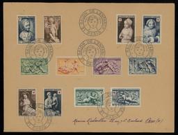 TREASURE HUNT [00899] France 1954 Salon De L'Enfance Paris Souvenir Cover Bearing Red Cross Stamps, Special Cancel - Brieven En Documenten