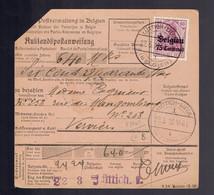COB OC6 + OC 14 Au Verso De Document De Mandat Lüttich-Liège 22.3.18 => Verviers 23 3 18 - [OC1/25] Gov. Gen..