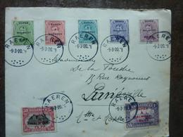 1920  Lettre 7 Timbres  EUPEN MALMEDY   Cachet RAEREN   PERFECT - Storia Postale
