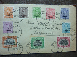 1920  Lettre 10 Timbres  EUPEN  Cachet EYNATTEN   PERFECT - Storia Postale