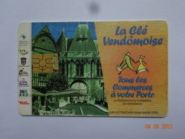 CARTE A PUCE CHIP CARD  CARTE FIDÉLITÉ  LA CLÉ VENDOMOISE 41 LOIR ET CHER - Carta Di Fedeltà E Regalo