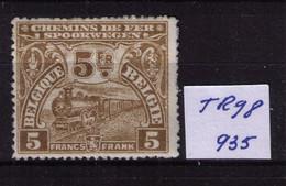 CHEMIN DE FER ** / MNH TR 98    Cob 935 à   45,70  (lire ) - 1915-1921