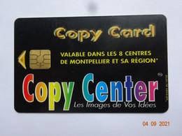 CARTE A PUCE CHIP CARD  CARTE FIDÉLITÉ  CARTE PHOTOCOPIES COPY CARD RÉGION MONTPELLIER 34 HÉRAULT - Carta Di Fedeltà E Regalo