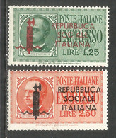 Italy 1944 Mint MNH(**) Stamps Michel # 648-49 - Nuevos