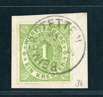 Württemberg Michel Nummer 36 Briefstück Gestempelt - Wuerttemberg