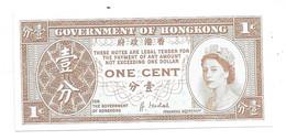 *hong Kong 1 Cent 1992-95   325  Unc Bside Blanco - Hong Kong