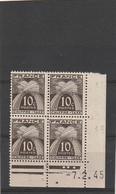 ///    FRANCE  ///  Coin Daté  Taxe N° 67 Gomme ** Et *petite Tache - 1940-1949
