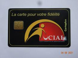 CARTE A PUCE CHIP CARD  CARTE FIDÉLITÉ  UCIAL DE MUR EN AUXOIS 21 CÔTE D'OR CARTAPLUS - Carta Di Fedeltà E Regalo