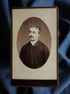 Photo CDV J. Arnaud à Verdun - Portrait En Médaillon Homme, Circa 1885-90 L562C - Oud (voor 1900)