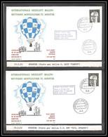 41845 Munster 1972 Allemagne Germany Bund Ballon Dante Et Strath Balloon Aviation PA Poste Aérienne Airmail Lettre Cover - Mongolfiere