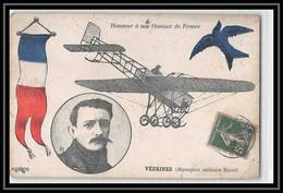 41870 Vedrine Monoplan Militaire 1913 Creuse France Aviation PA Poste Aérienne Airmail Carte Postale (postcard) - 1927-1959 Lettres & Documents