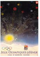 Switzerland Modern Postcard From 1984 From IOC: 1948 Saint Moritz Winter Olympics - Mint (DD28-59) - Inverno1948: St-Moritz
