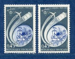 ⭐ France - Variété - YT N° 1721 - Couleurs - Pétouille - Neuf Sans Charnière - 1972 ⭐ - Varieties: 1970-79 Mint/hinged