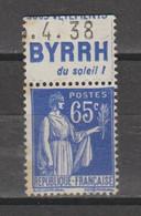 Paix Type 2  N°365b - Reclame