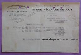 Courrier  Relevé De Facture 25.03.1946 Scierie Mecanique De Jouy - Soumeilhan Chartres - A Prendre En L Etat Perforée - - 1900 – 1949
