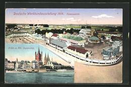 AK Köln, Werkbundausstellung 1914, Stadtpanorama, Totalansicht Des Ausstellungsgeländes - Tentoonstellingen