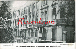 Antwerpen Zurenborg Eerste Wereldoorlog Berchem Generaal Van Merlenstraat Schade Na Bombardement WW1 WWI - Antwerpen