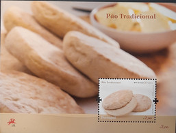 2009 - Portugal - MNH As Scan - Traditional Portuguese Bread - Madeira - Souv. Sheet Of 1 Stamp - FACE VALUE - Unused Stamps