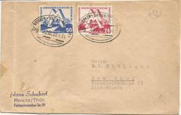 "20 124 Briefhülle Bahnpost ""BERLIN-SASSNITZ(HAFEN)"" 1951 - Covers & Documents"