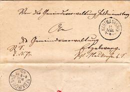 Bayern 1885, K1 HARTMANNSHOF Auf Brief V. Heldmannsberg N. Etzelwang Neukirchen - Bayern
