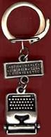 ** PORTE - CLEFS  MACHINE  à  ECRIRE  -  LILLE ** - Key-rings