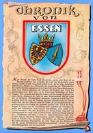 1 AK Germany / NRW * Chronikkarte Der Stadt Essen - Mit Dem Wappen Der Stadt * - Essen