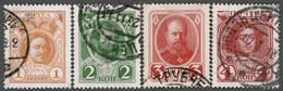 Россия RUSSIA 1913 Yt: RU 77, 77a, 78, 79 Romanov Dynasty Anniversary, Russian Emperors, Used-hinged - Gebruikt