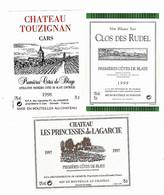 Lot De 20 étiquettes De  VIN   (  BLAYE  )   Autocollantes   Neuves  ( 7 Scans) - Bordeaux