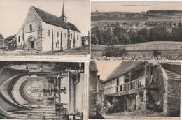 4 CPA:PASSY GRIGNY (51) MAISON AVEC GALERIE,ÉGLISE,INTÉRIEUR ÉGLISE,VUE - Other Municipalities