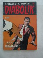 #  DIABOLIK R COSTA BIANCA N 175 / ACCUSA INFAMANTE - OTTIMO/ BUONO - Diabolik