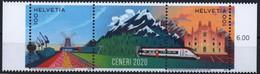 Switzerland  2020. Ceneri, Trains, Windmill, Mountains MNH - Ungebraucht