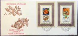 Rwanda - FDC Lot (3) 1975 Coffee Agriculture - Agricoltura