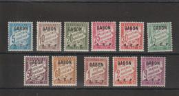 Gabon 1928 Série Taxe 1-11 11 Val * Charnière MH - Nuovi
