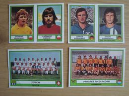 LOT DE 4 VIGNETTES PANINI EURO FOOTBALL 1978 - Franse Uitgave