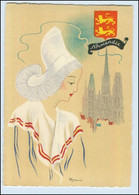Y269/ Normandie Frankreich Trachten Künstler Litho AK Dyl Ca.1940 - Ohne Zuordnung