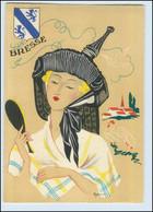 Y268/ Bresse Frankreich Trachten Künstler Litho AK Dyl Ca.1940 - Ohne Zuordnung