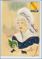 Y274/ Lorraine Frankreich Trachten Künstler Litho AK Dyl Ca.1940 - Ohne Zuordnung